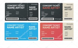 005 Imposing Concert Ticket Template Word Picture  Free Microsoft