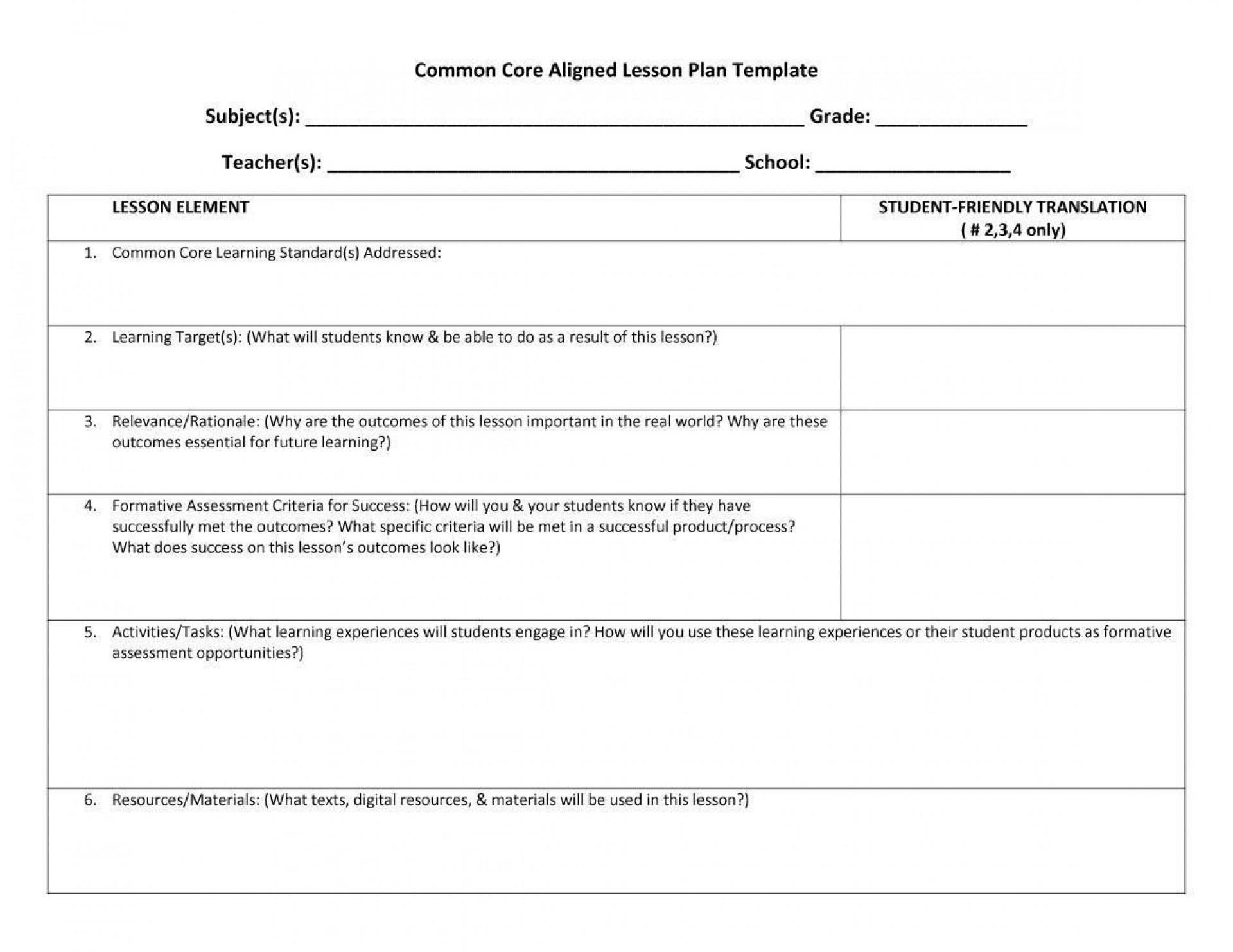 005 Imposing Editable Lesson Plan Template Sample  Templates For Preschool Word Free1920