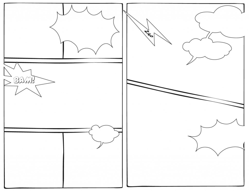 005 Imposing Free Comic Strip Template Word Highest Quality Large