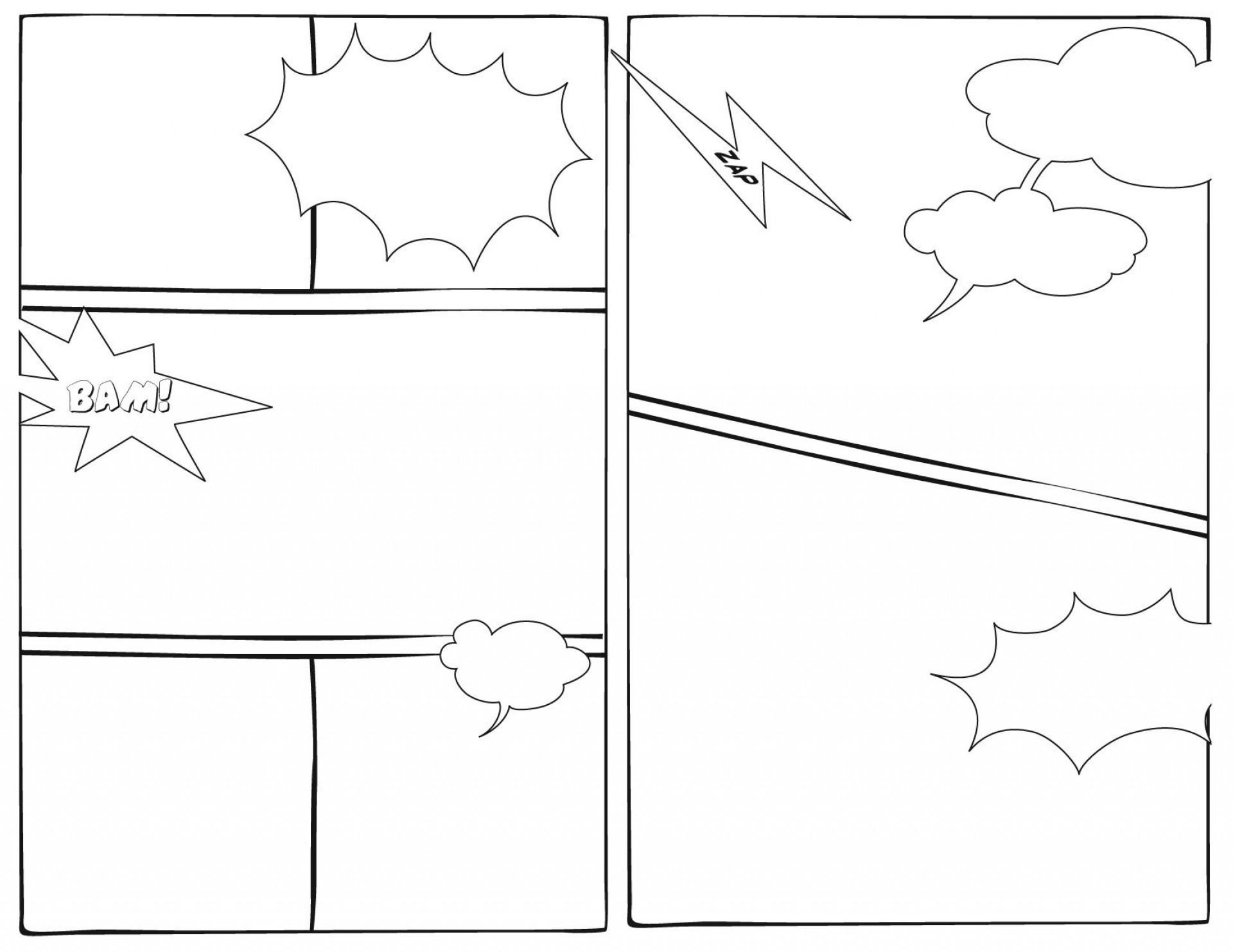 005 Imposing Free Comic Strip Template Word Highest Quality 1920