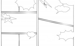 005 Imposing Free Comic Strip Template Word Highest Quality