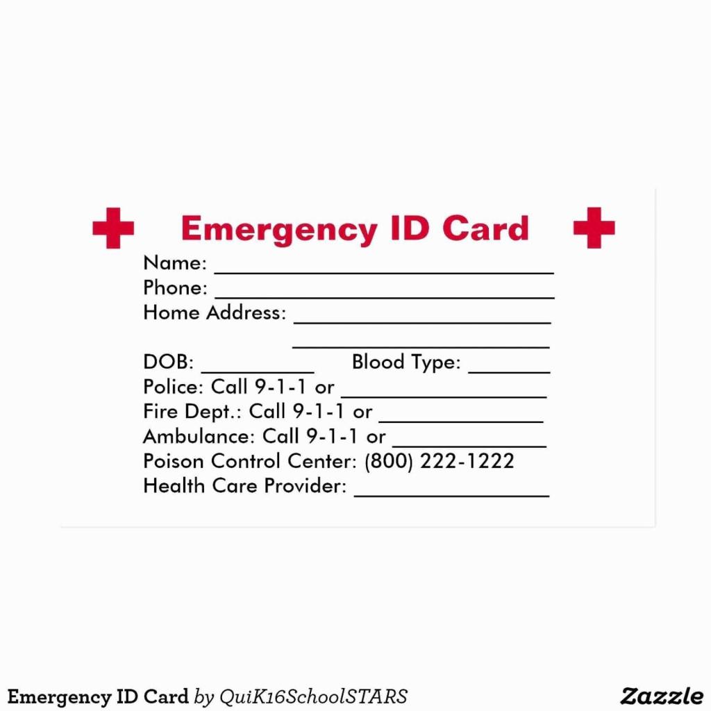005 Imposing Free Emergency Contact Card Template Uk Photo Large