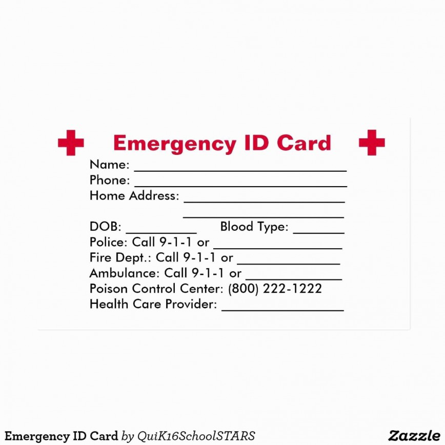 005 Imposing Free Emergency Contact Card Template Uk Photo