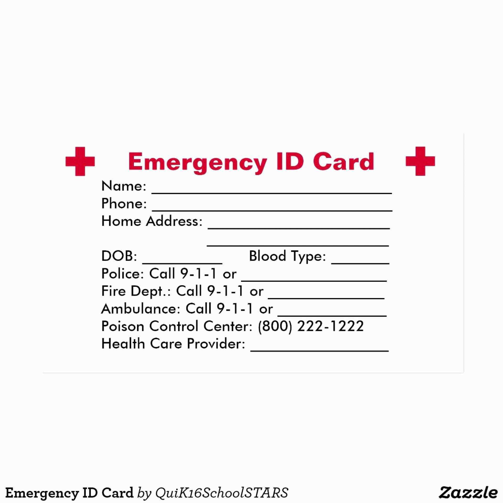 005 Imposing Free Emergency Contact Card Template Uk Photo Full