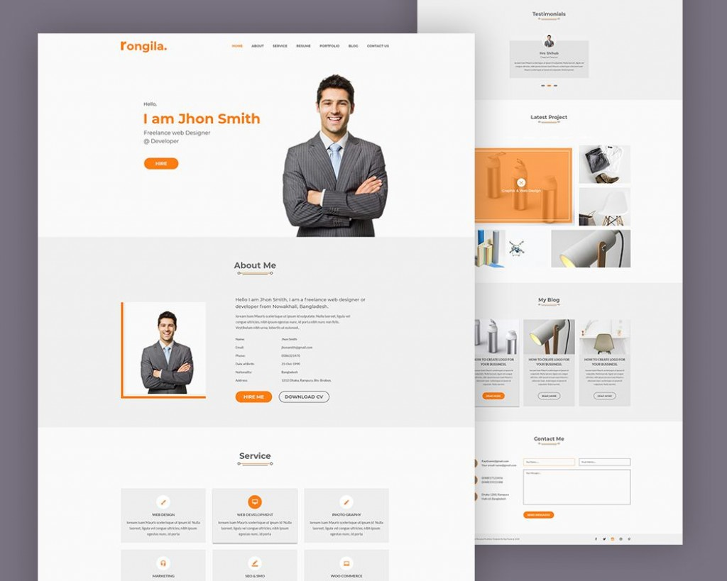 005 Imposing Free Portfolio Website Template Photo  Templates For Web Developer Photography Html5Large