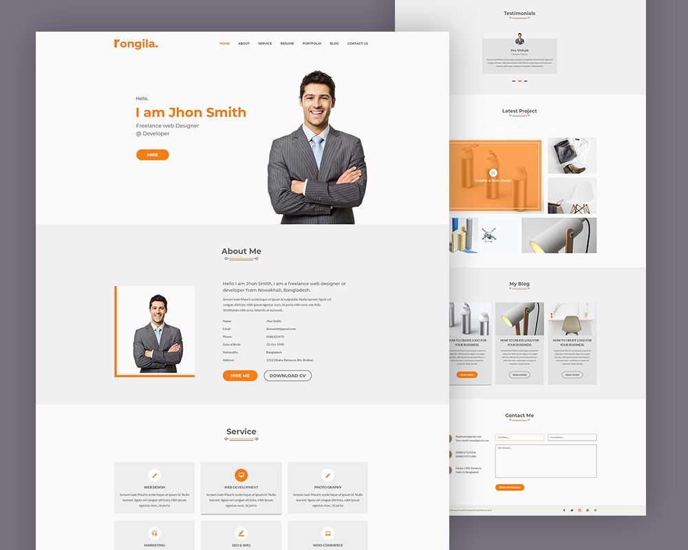 005 Imposing Free Portfolio Website Template Photo  Templates For Web Developer Photography Html5Full