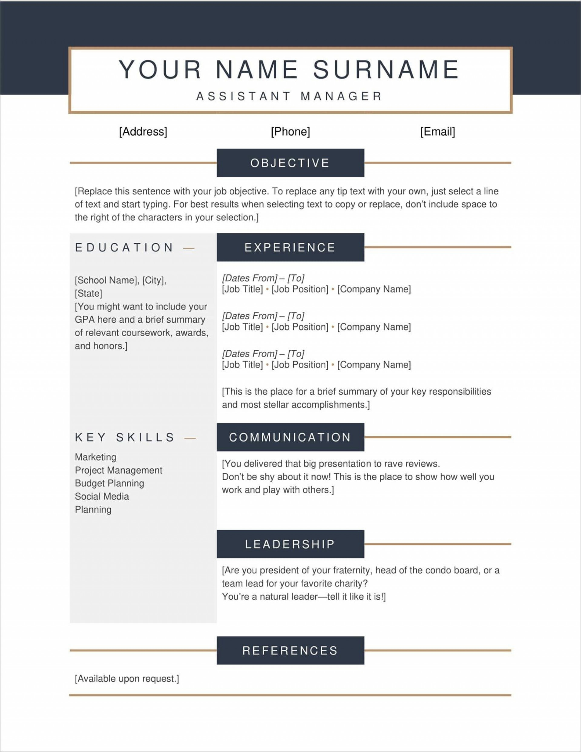 005 Imposing Free Printable Resume Template Download Image 1920