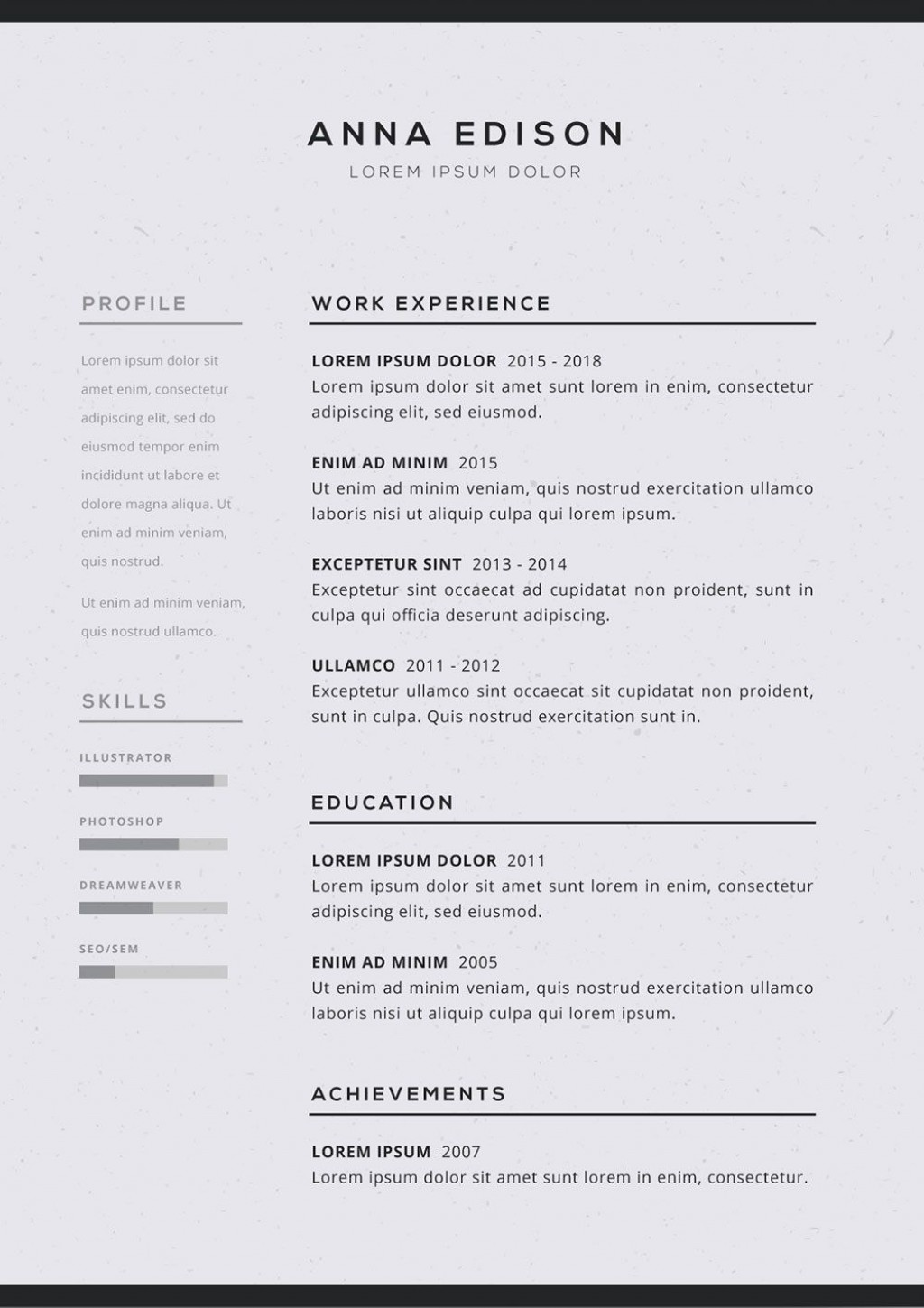 005 Imposing Free Simple Resume Template Microsoft Word Idea Large