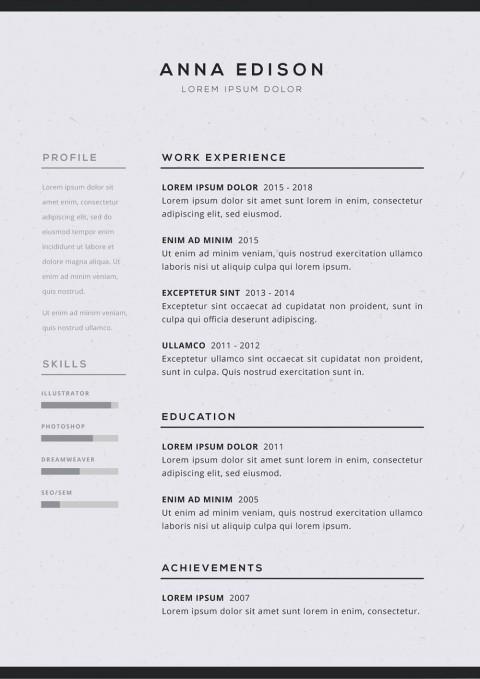 005 Imposing Free Simple Resume Template Microsoft Word Idea 480