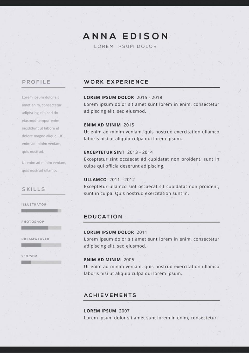 005 Imposing Free Simple Resume Template Microsoft Word Idea 960