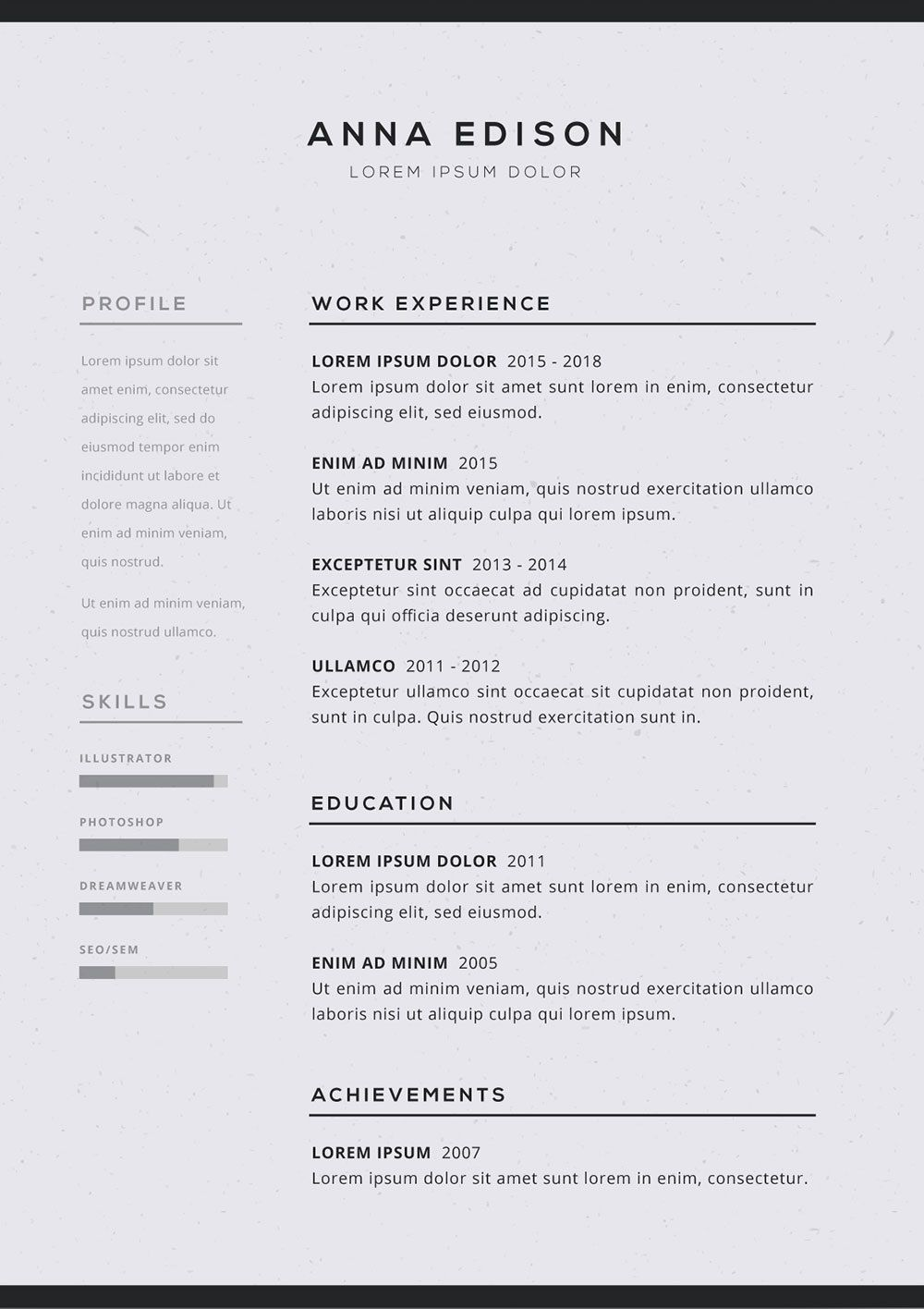 005 Imposing Free Simple Resume Template Microsoft Word Idea Full