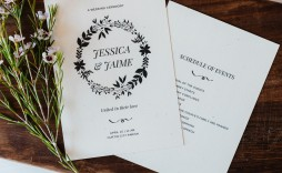 005 Imposing Free Wedding Program Template For Word Example  Download Fan Microsoft Downloadable Reception