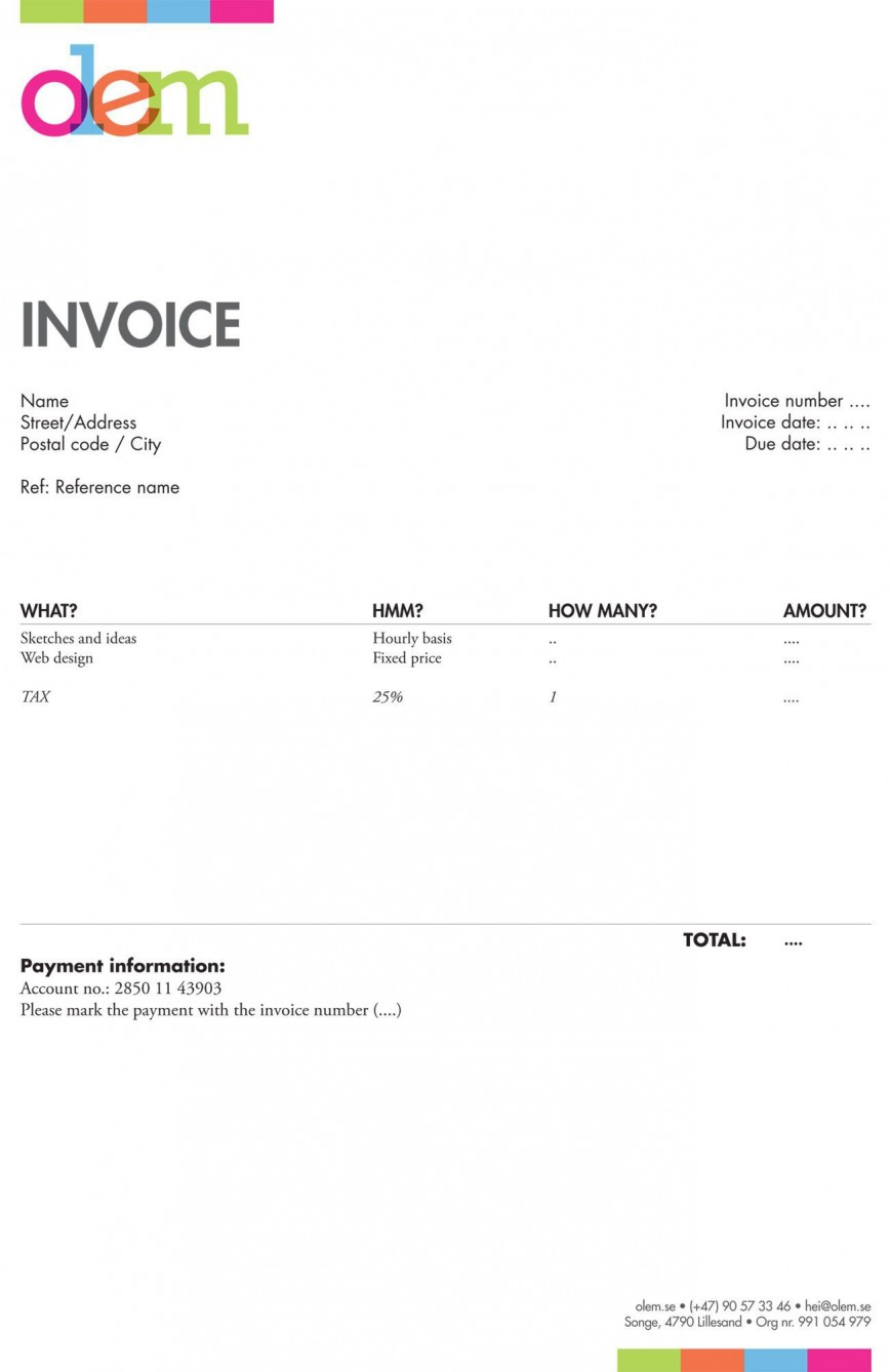005 Imposing Freelance Graphic Design Invoice Example Highest Quality  Contract Template Sample868