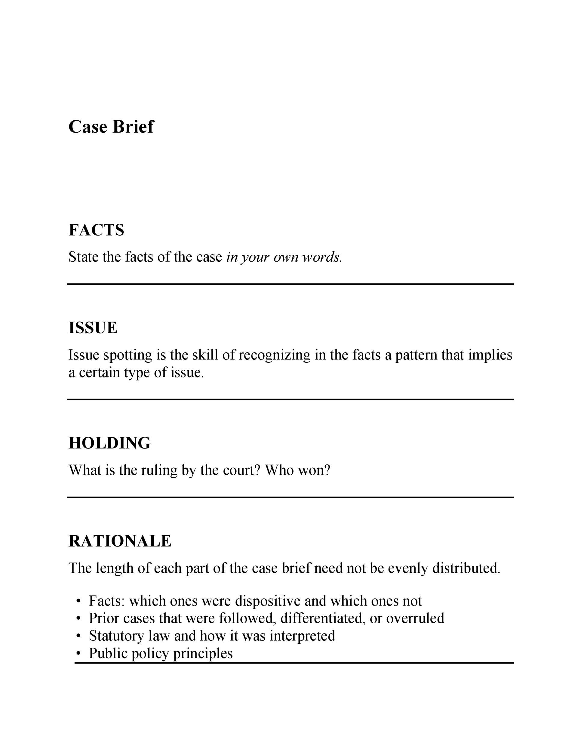 005 Imposing Legal Brief Template Word Idea  Case MicrosoftFull