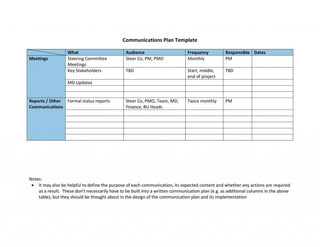 005 Imposing Marketing Communication Plan Template Example  Pdf Excel IntegratedLarge