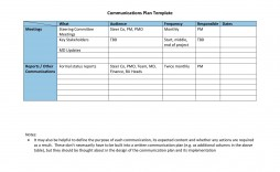 005 Imposing Marketing Communication Plan Template Example  Pdf Excel Integrated