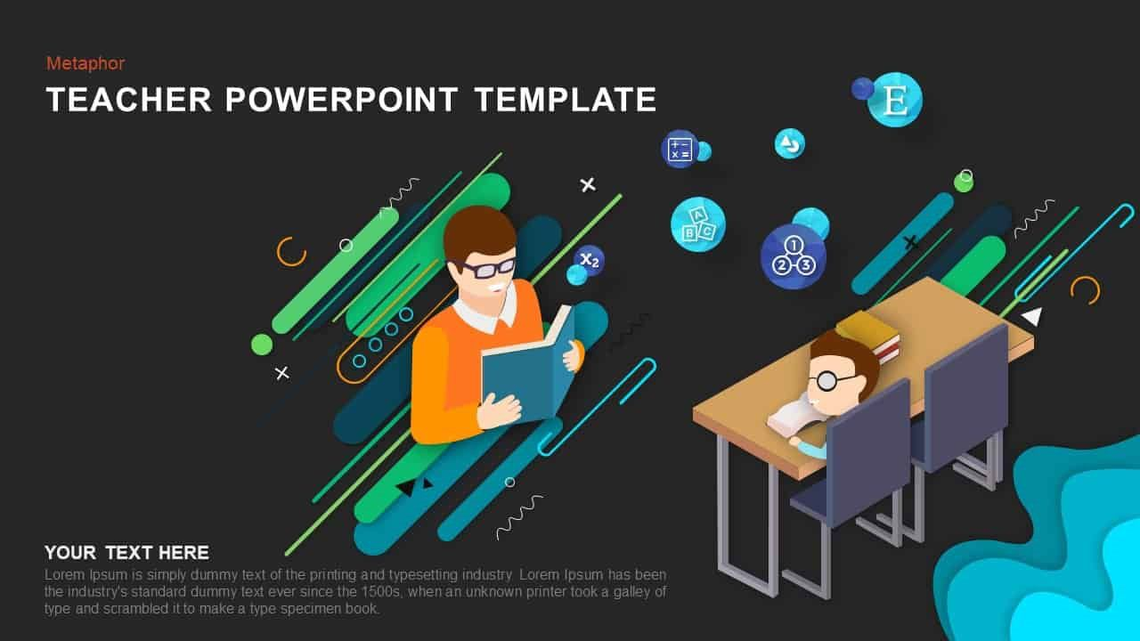 005 Imposing Ppt Template For Teacher Inspiration  Teachers Free Download Powerpoint Education KindergartenFull