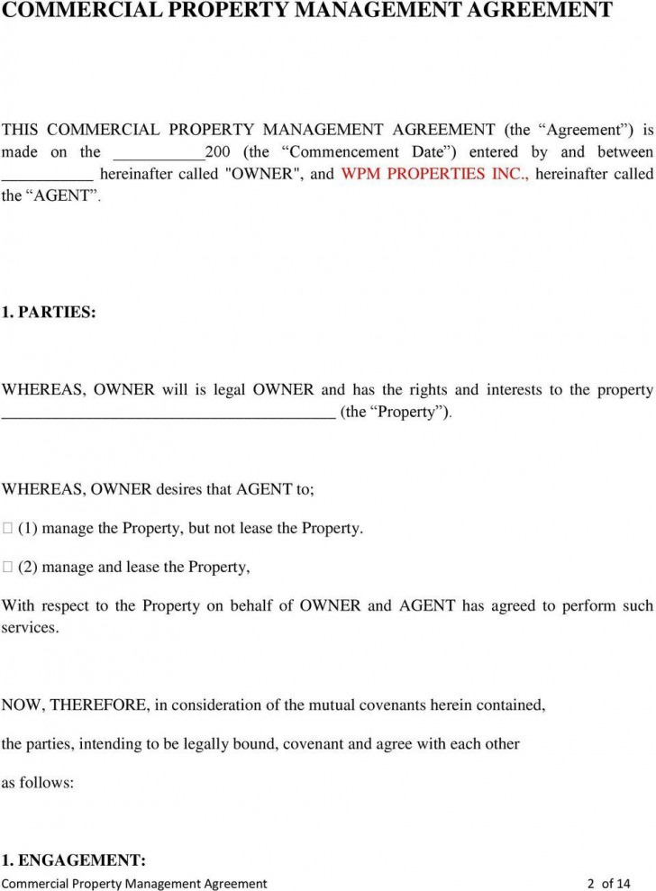 005 Imposing Property Management Contract Form Sample  Agreement Template Ontario728