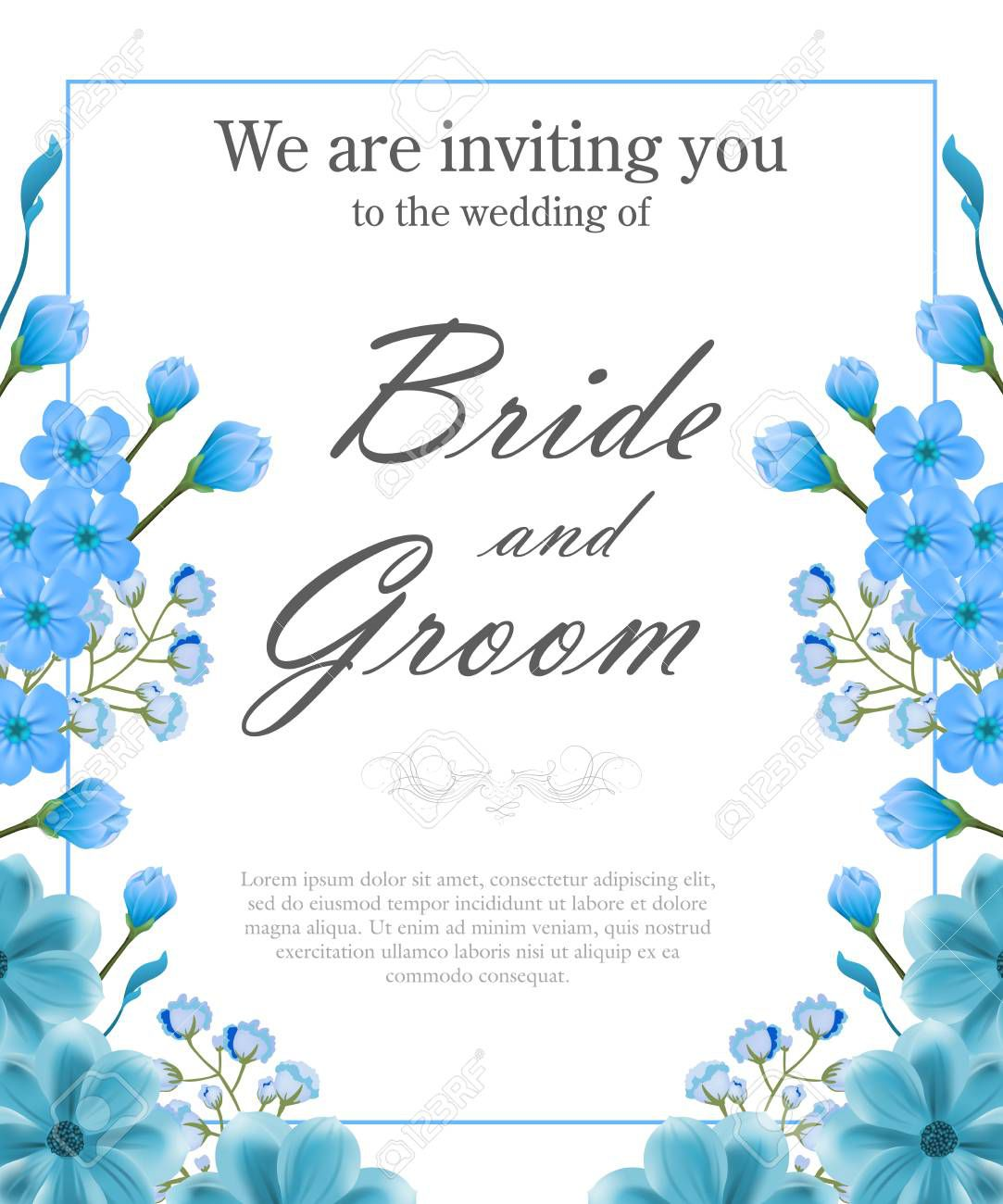 005 Imposing Sample Wedding Invitation Template Image  Templates Wording CardFull