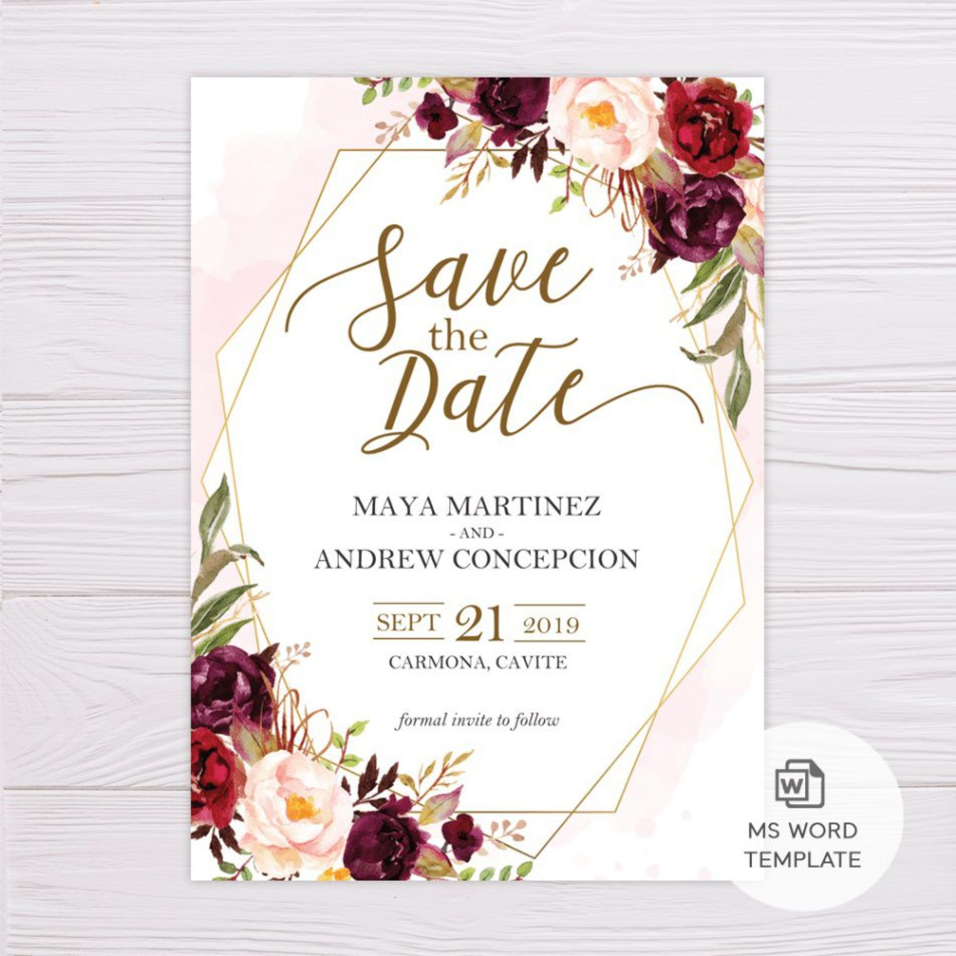 005 Imposing Save The Date Template Word Picture  Free Customizable For Holiday Party1920