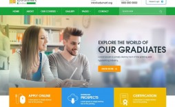 005 Imposing School Website Html Template Free Download Example  Responsive With Cs Jquery