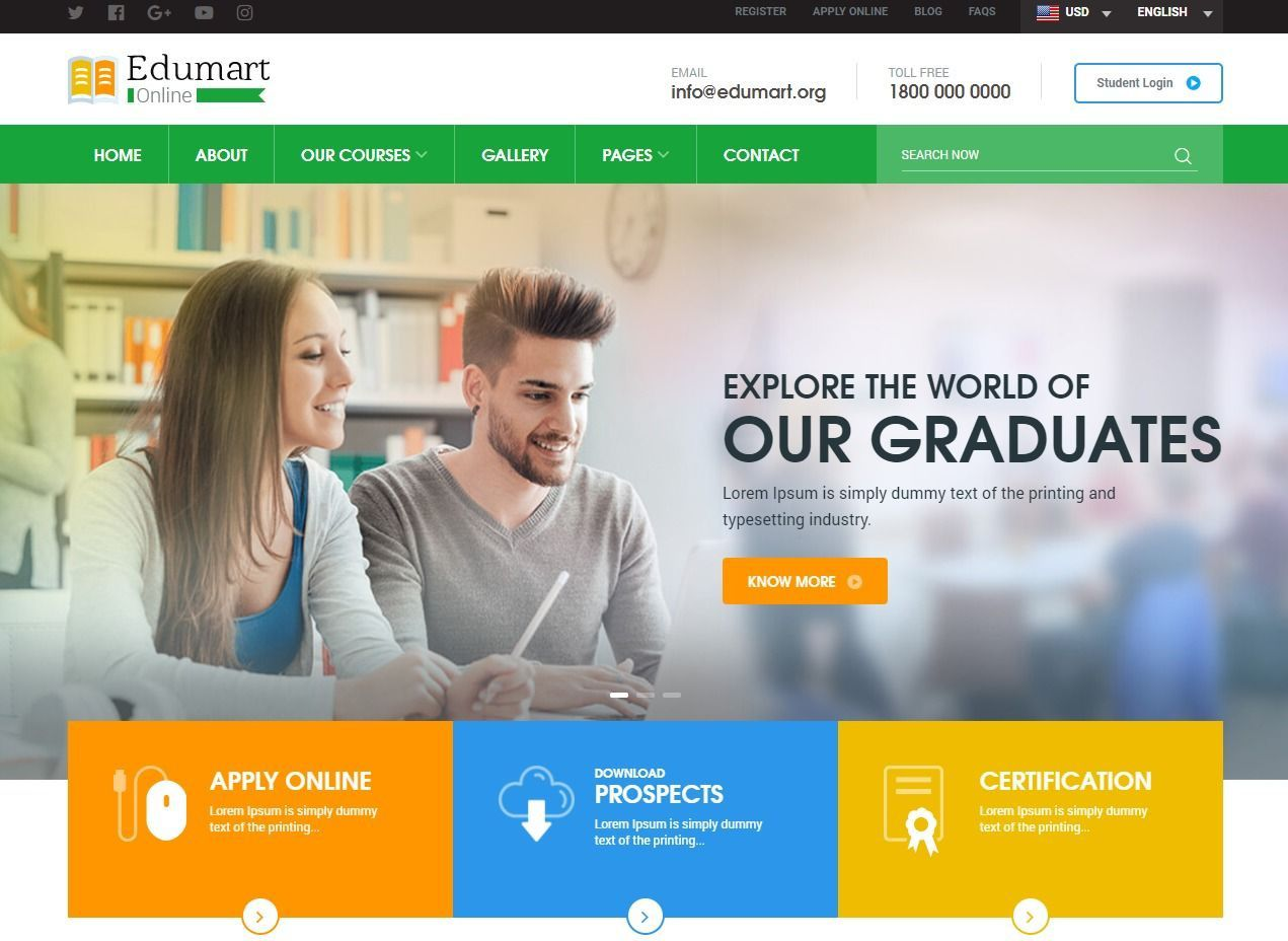 005 Imposing School Website Html Template Free Download Example  Responsive With Cs JqueryFull