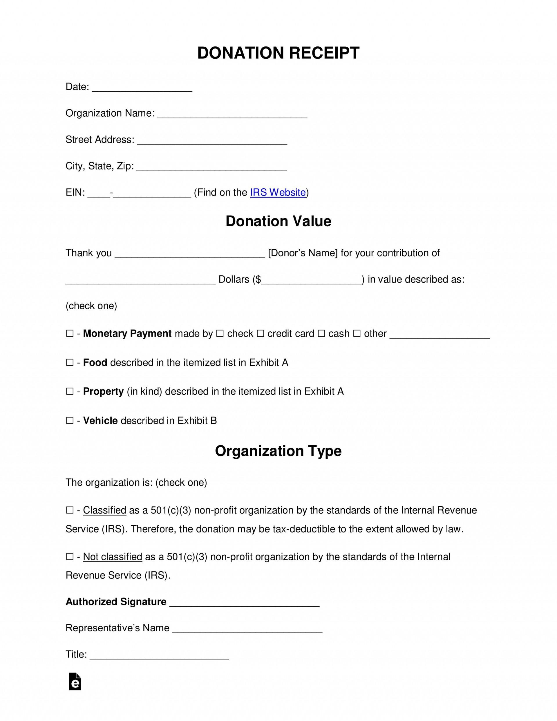 005 Imposing Tax Donation Form Template Idea  Ir Charitable Receipt Deductible Example1920