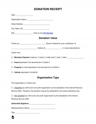 005 Imposing Tax Donation Form Template Idea  Charitable Sample Letter Ir Receipt For Purpose320