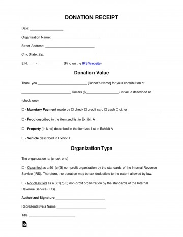 005 Imposing Tax Donation Form Template Idea  Charitable Sample Letter Ir Receipt For Purpose360
