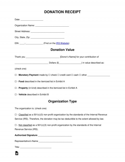 005 Imposing Tax Donation Form Template Idea  Charitable Sample Letter Ir Receipt For Purpose480