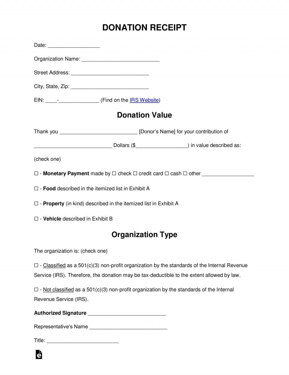 005 Imposing Tax Donation Form Template Idea  Charitable Sample Letter Ir Receipt For Purpose960