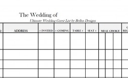 005 Imposing Wedding Guest List Template Excel Download Photo