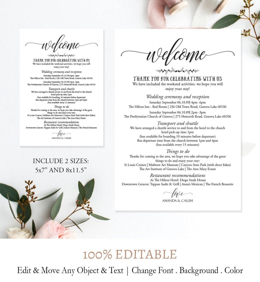 005 Imposing Wedding Weekend Itinerary Template Picture  Day Word Reception Timeline ExcelLarge