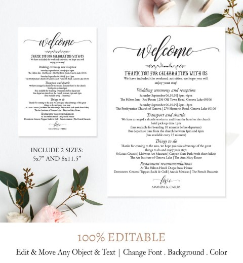 005 Imposing Wedding Weekend Itinerary Template Picture  Day Timeline Word Sample480