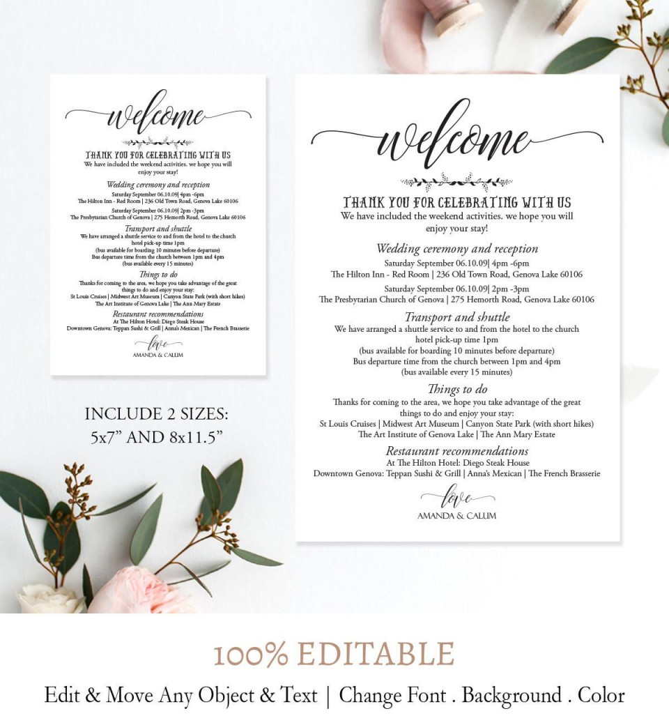 005 Imposing Wedding Weekend Itinerary Template Picture  Day Timeline Word Sample960