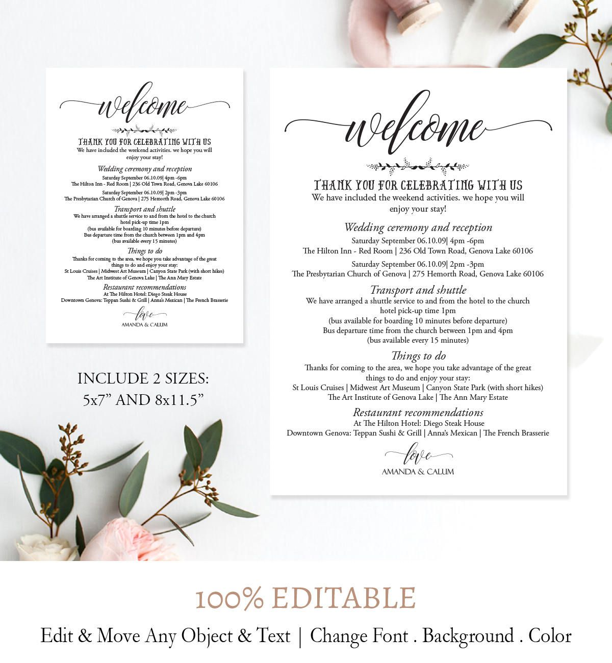 005 Imposing Wedding Weekend Itinerary Template Picture  Day Word Reception Timeline ExcelFull