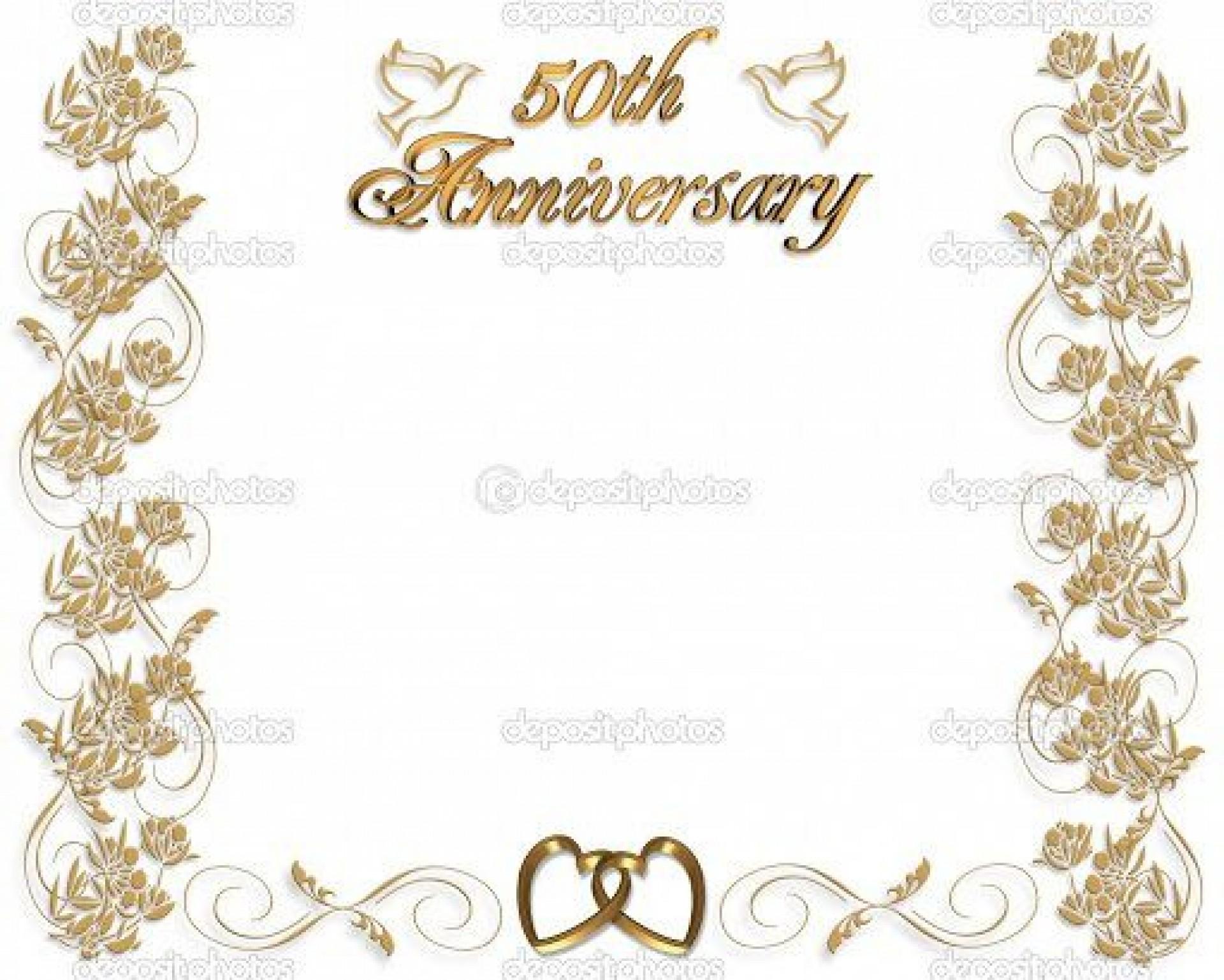 005 Impressive 50th Wedding Anniversary Invitation Template Microsoft Word Idea  Free1920