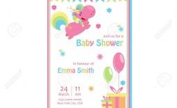 005 Impressive Baby Shower Card Template Sample  Microsoft Word Invitation Design Online Printable Free