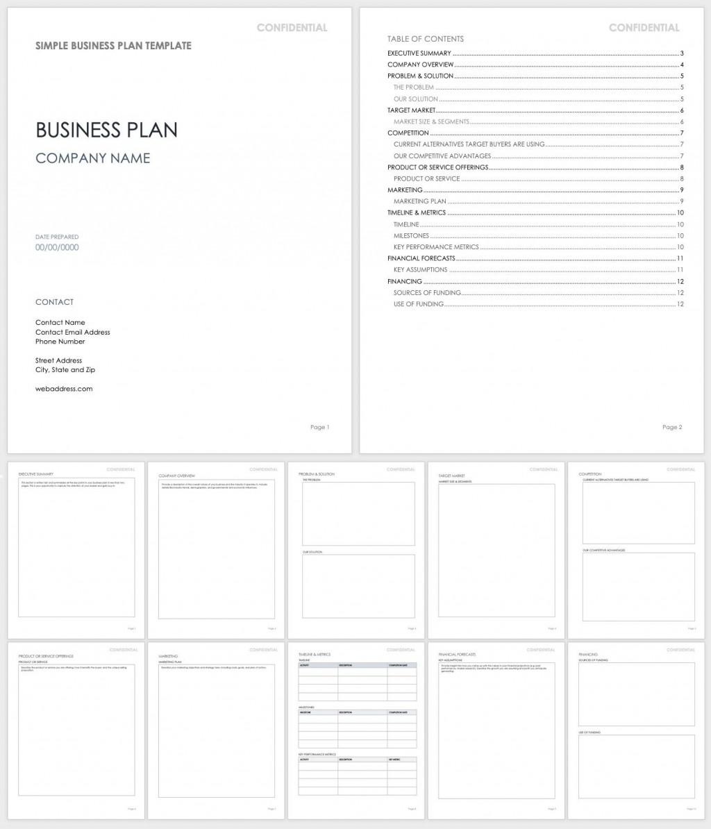 005 Impressive Basic Busines Plan Template Image  Templates Simple Uk Free Restaurant Sample Pdf WordLarge