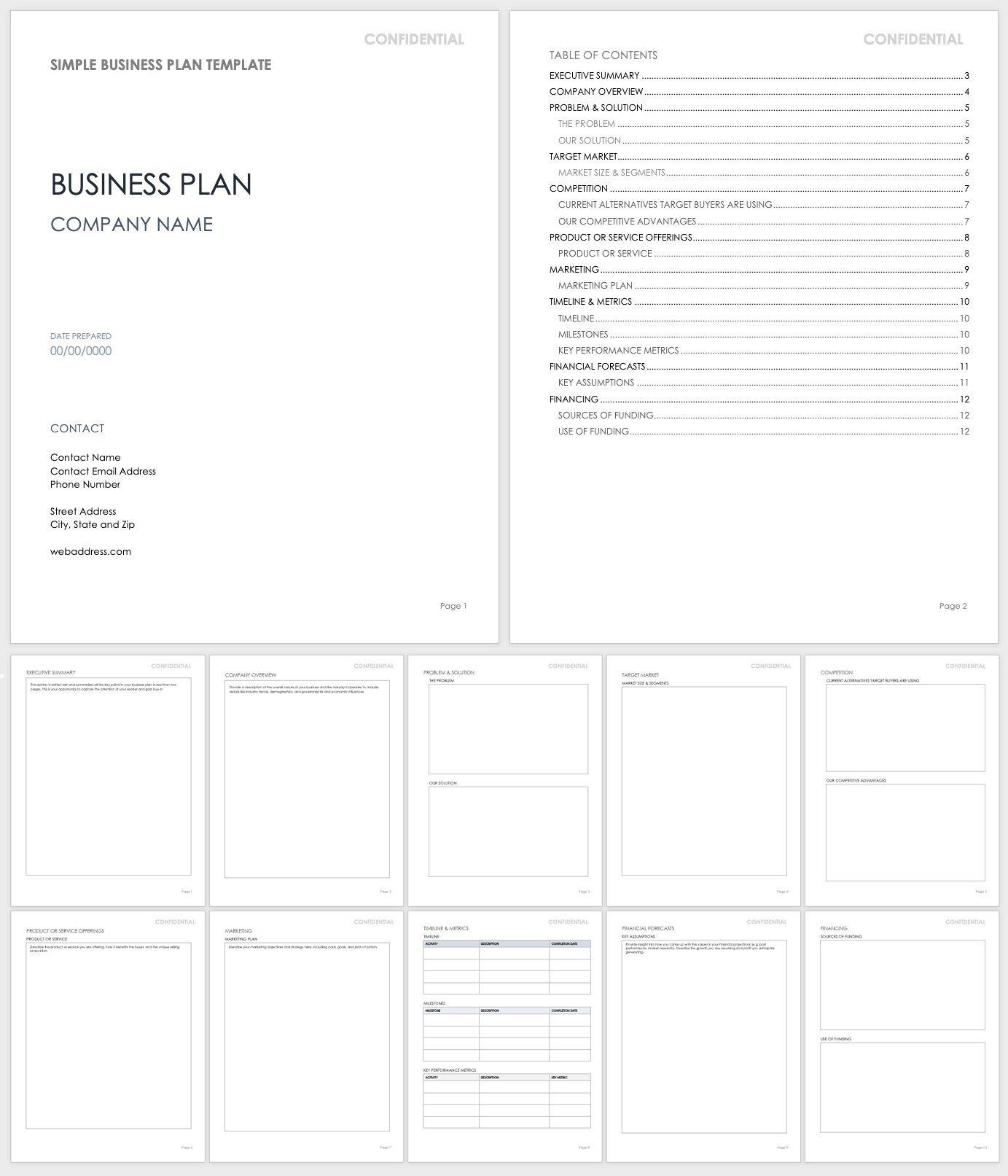 005 Impressive Basic Busines Plan Template Image  Templates Simple Uk Free Restaurant Sample Pdf WordFull