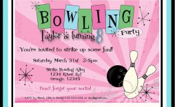 005 Impressive Bowling Party Invite Printable Free Example  Birthday Invitation Girl