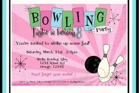005 Impressive Bowling Party Invite Printable Free Example  Birthday Invitation