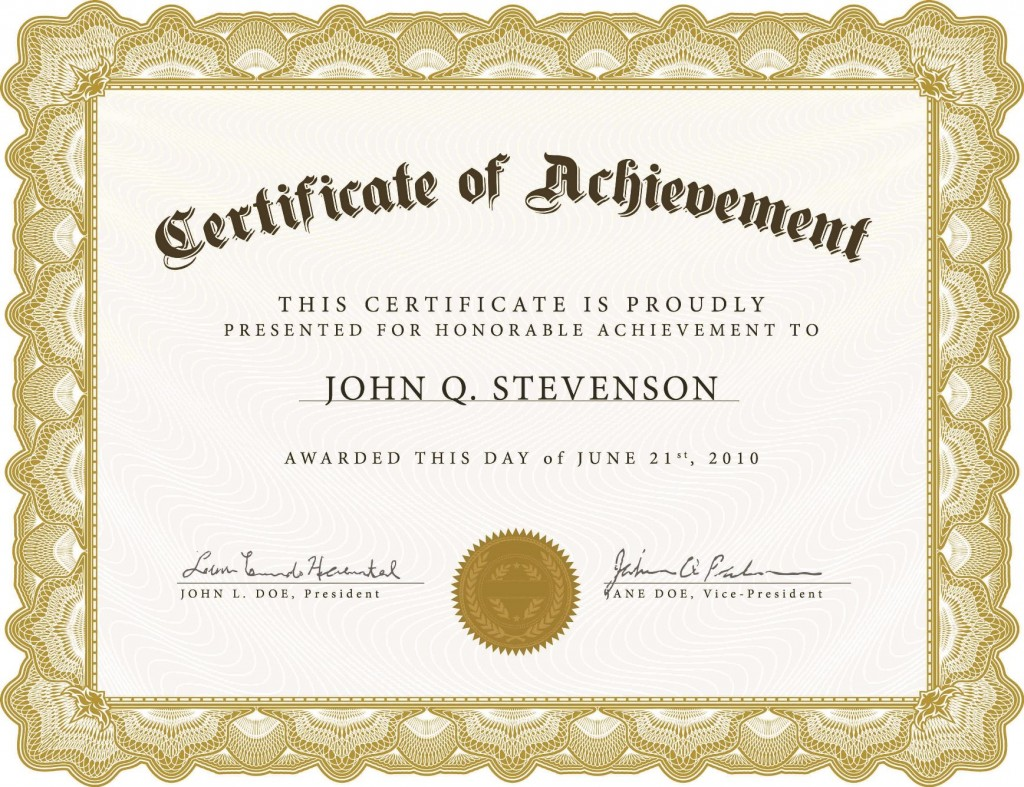 005 Impressive Certificate Template For Word Idea  Award 2007 MLarge