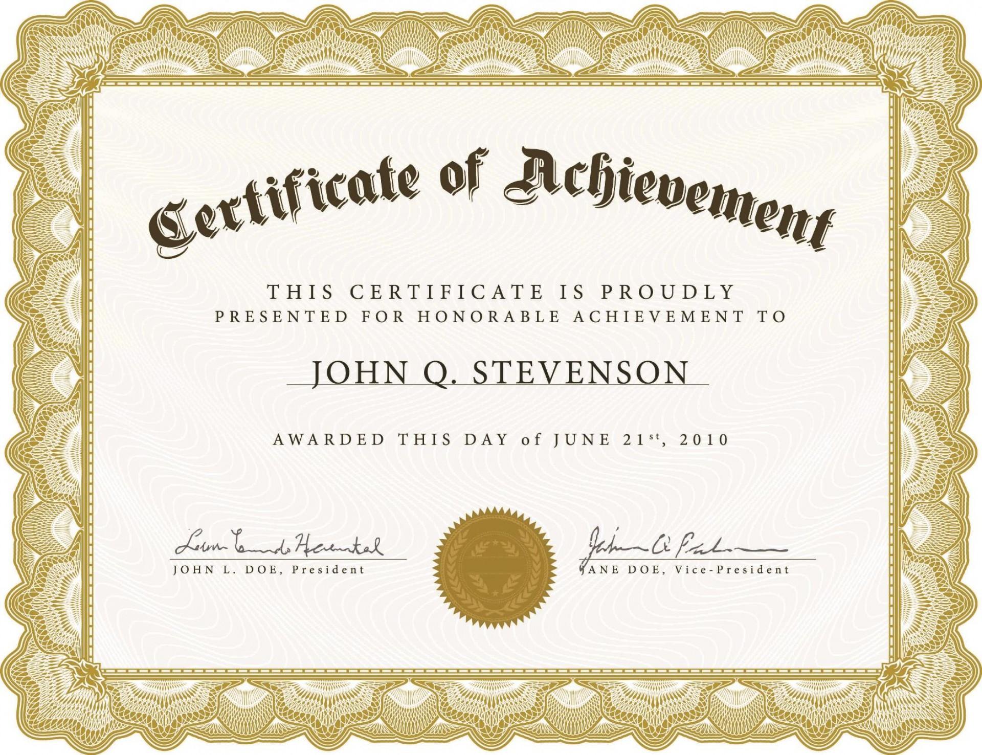 005 Impressive Certificate Template For Word Idea  Award 2007 M1920