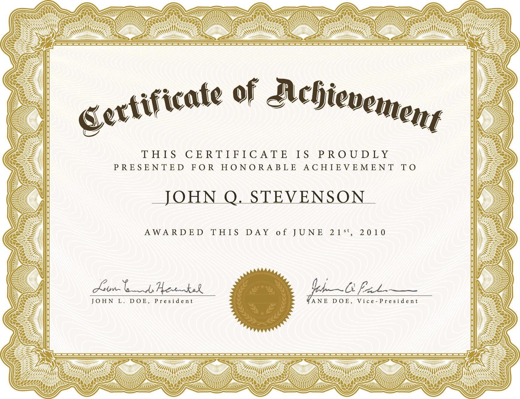 005 Impressive Certificate Template For Word Idea  Award 2007 MFull
