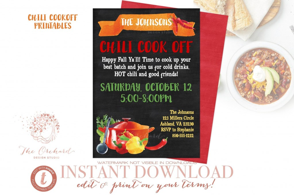 005 Impressive Chili Cook Off Flyer Template Highest Quality  Halloween Office PowerpointLarge