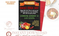 005 Impressive Chili Cook Off Flyer Template Highest Quality  Halloween Office Powerpoint