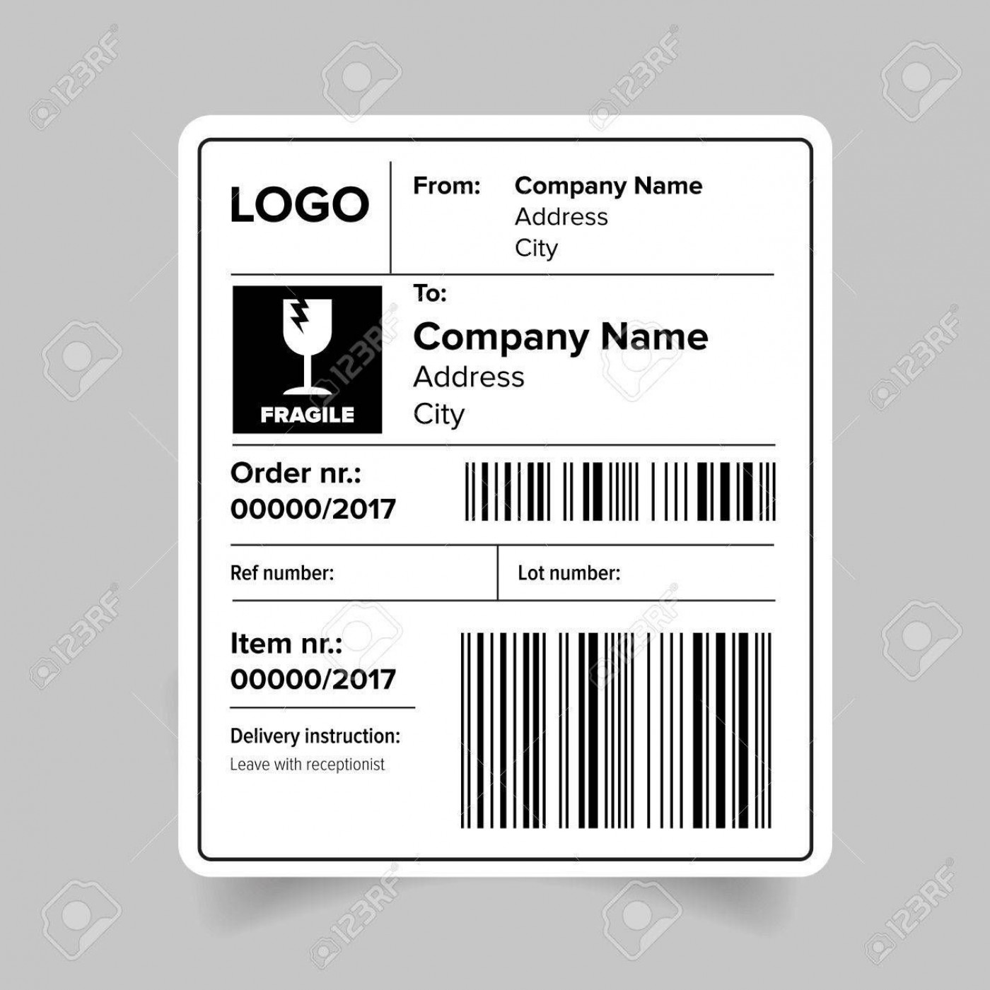 005 Impressive Cute Shipping Label Template Free Concept 1400