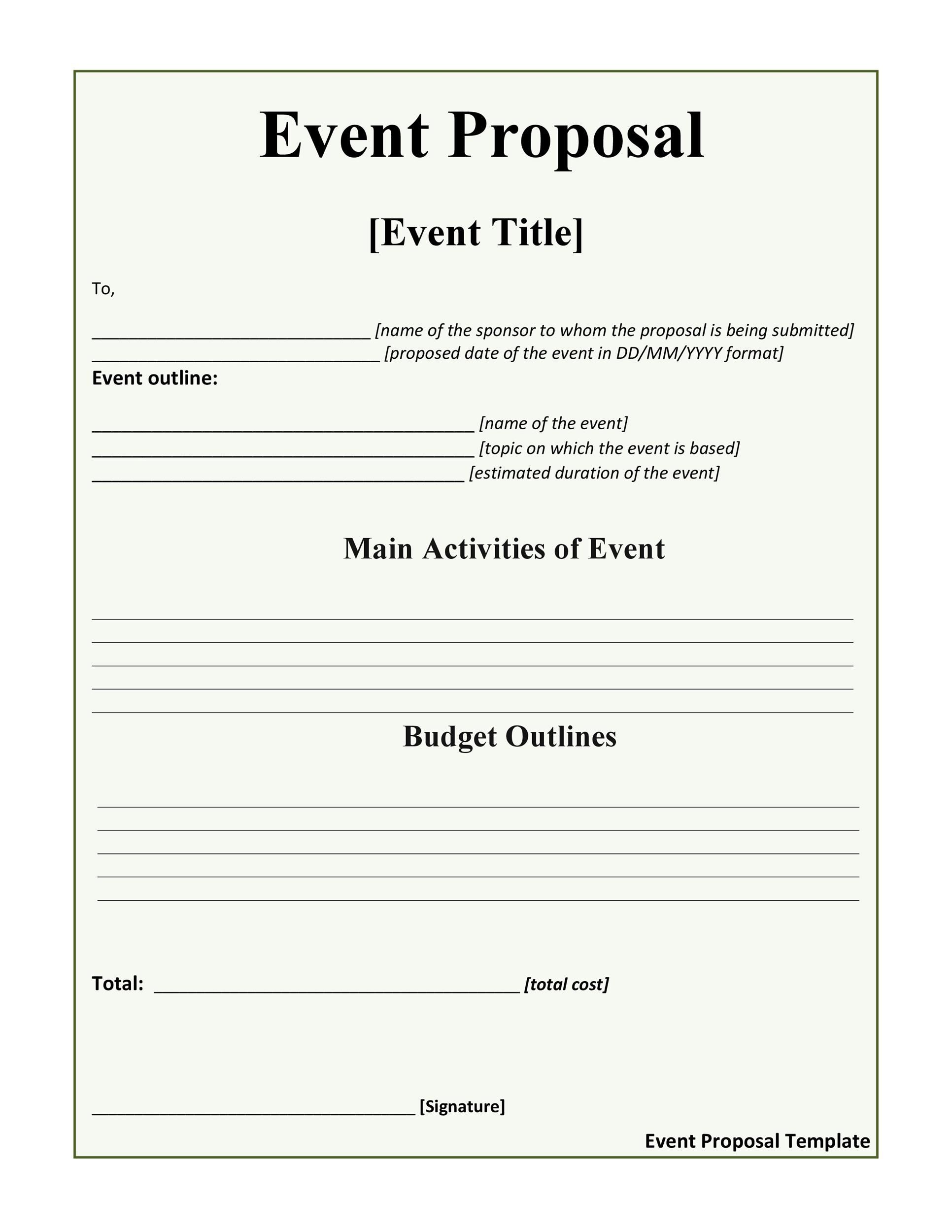 005 Impressive Event Planning Proposal Template High Def  Example Pdf WordFull