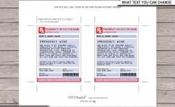 005 Impressive Fake Prescription Label Template Idea  Walgreen Bottle